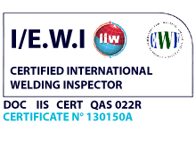 International Welding Inspector certificate