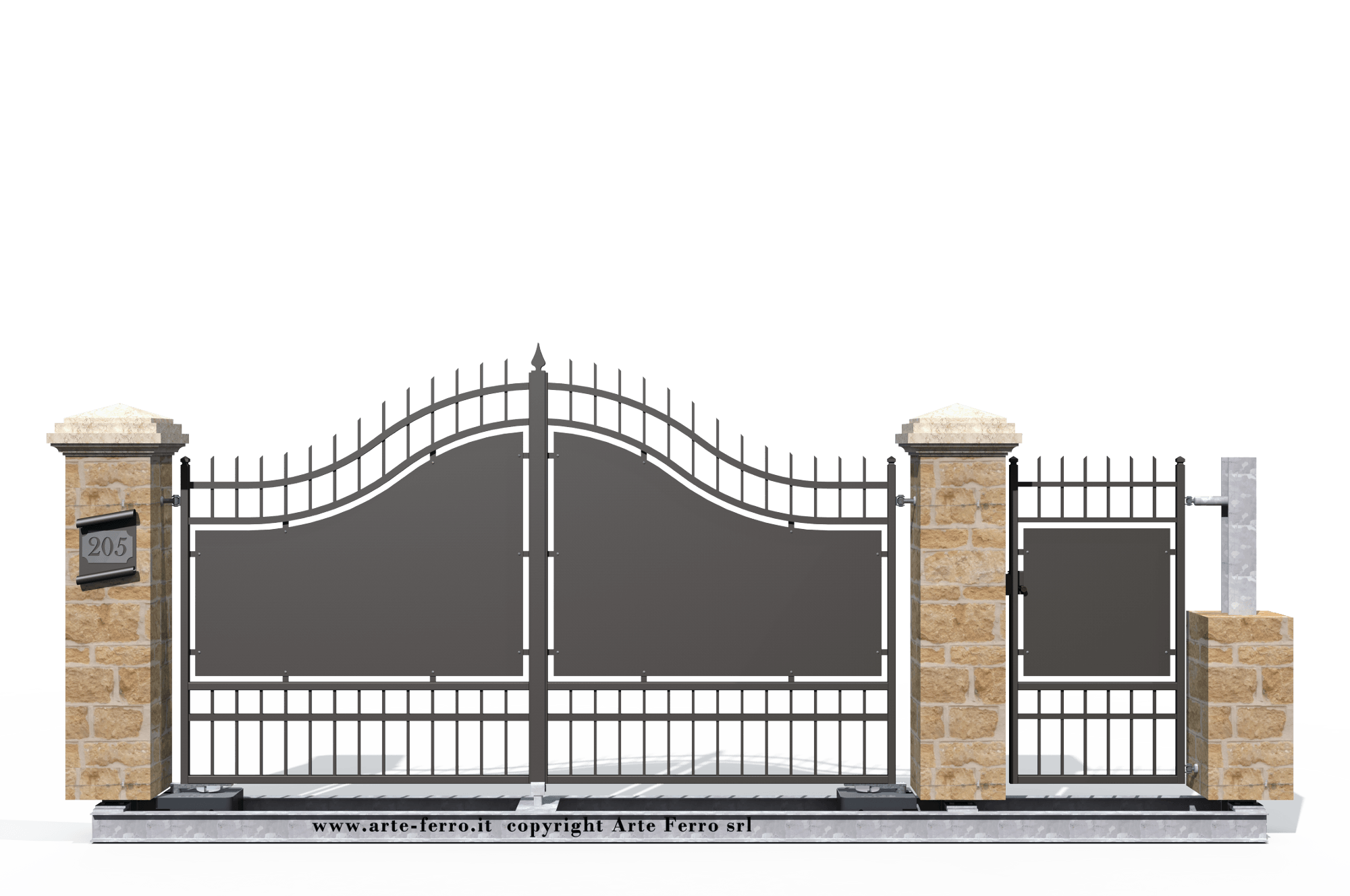Cancello in ferro battuto 205 for Lance per cancelli in ferro