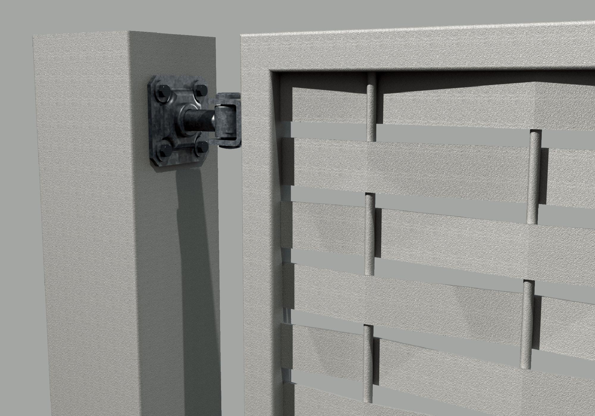 Cancello moderno 505 for Cancello scorrevole moderno